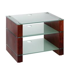Blok Stax 450 - Stereomøbel 3 hyller - Walnut / Etched Glass