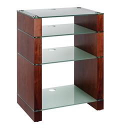 Blok Stax 810X - Stereomøbel 4 hyller - Walnut / Etched Glass
