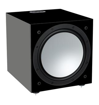 "Monitor Audio Silver W-12 Subwoofer 12"" - Sort høyglans"