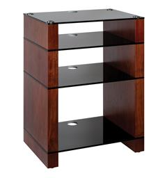Blok Stax 810X - Stereomøbel 4 hyller - Walnut / Black Glass