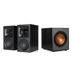 Klipsch The Fives og R-100SW Aktiv høyttaler med subwoofer - Sort