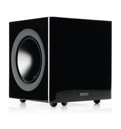"Monitor Audio Radius 380 Subwoofer 8"" - Sort høyglans"