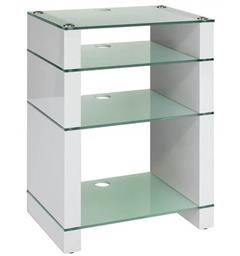 Blok Stax 810X - Stereomøbel 4 hyller - White Gloss / Etched Glass